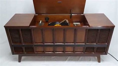 record player stereo cabinet mid century modern zenith stereo record player console