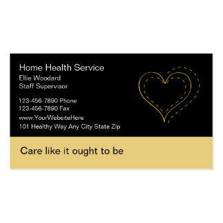 home health care business card template home health care business cards templates zazzle