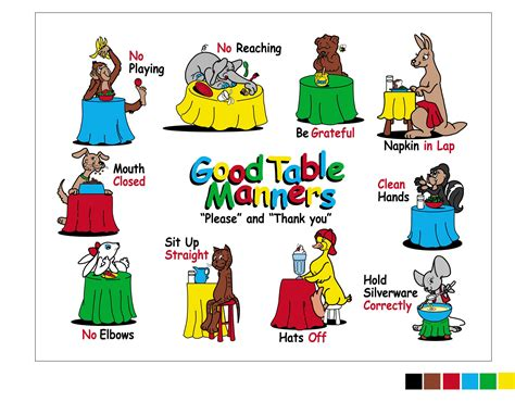 table manners for the table manners placemat for teaching 3 9 year olds