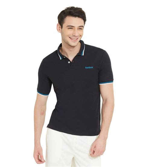 polo shirt reebok black terlaris reebok black cotton polo t shirt buy reebok black cotton