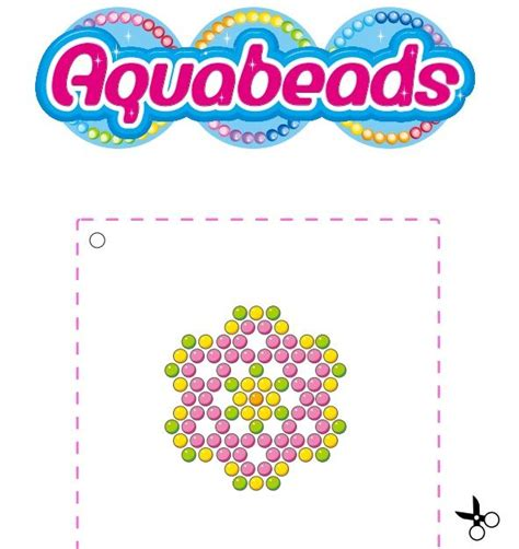 free beados templates beados aquabeads flower template craft