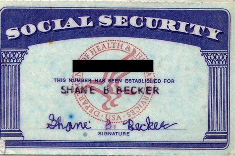 my social security card i was in second grade and