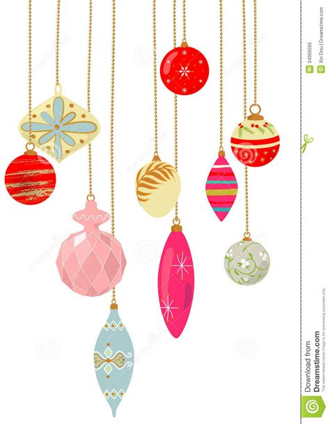 vintage x mas ornaments royalty free stock photo image