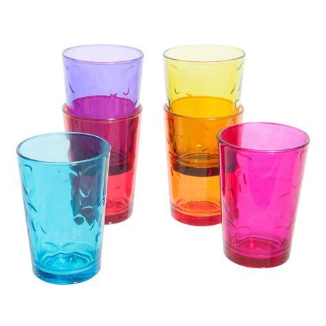 bicchieri maison du monde 6 bicchieri multicolore in vetro kelebeck maisons du monde