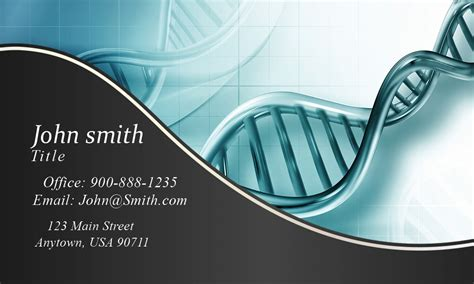 medical laboratory scientist business card design 301091
