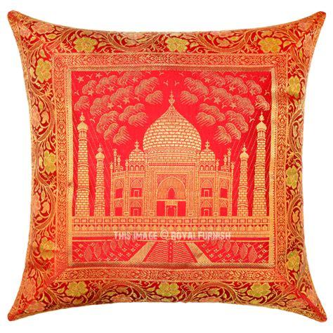 Silk Decorative Pillows Color Decorative Tajmahal Silk Brocade Throw Pillow