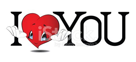 imagenes de i love you animadas 卡通卡哇伊我爱你 stock vector freeimages com