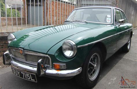 british racing green mgb gt 1972 tax exempt in british racing green