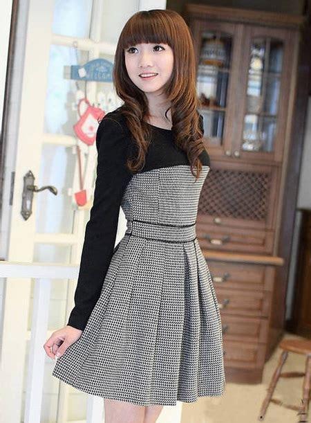 Korean Style P1046 Grey 31 33 estilo coreano encantador dividir vestido conjunto sweater 10659046 vestidos de su 233 ter