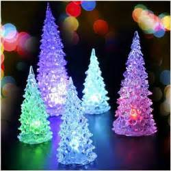 led glow in dark artificial mini christmas tree with