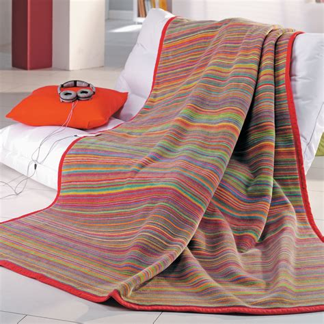 ibena jacquard wohndecke quot messina quot 150x200 cm orange bunt