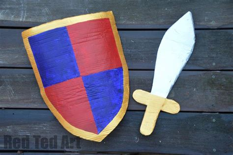 how to make a knight s shield red ted art s blog