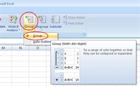 excel format group rows group rows and columns in an excel worksheet