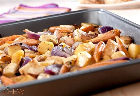 recipe roasted root vegetables oven oven roasted root vegetables thechew