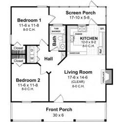 Two Bedroom Guest House Design Country Style House Plans 800 Square Foot Home 1 Story