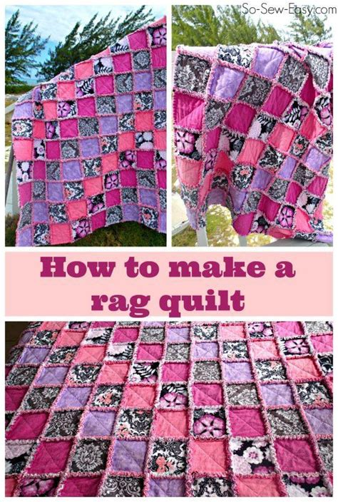 How To Make A Patchwork Quilt Out Of Baby Clothes - 292 best rag quilts images on projects baby