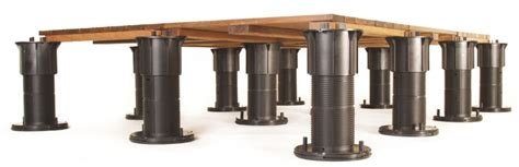 Support Pedestal Elevated Deck Systems Adjustable Deck Supports