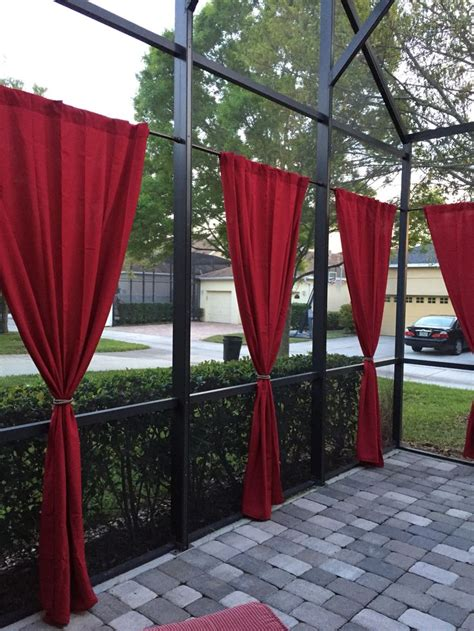 Curtains On Patio 17 Best Images About Screened Patio Curtain Ideas On Screened Patio Drop Cloth