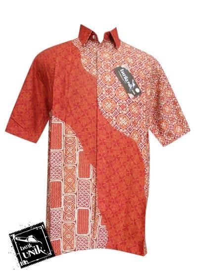 Suspender Set Baju Bayi Atasan Celana Motif Wajik kemeja batik katun motif ceplok wajik kemeja pendek murah batikunik