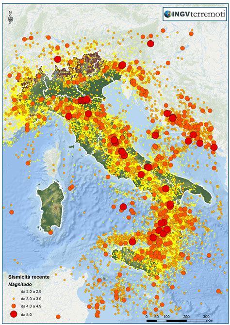 in italia i terremoti in italia ingvterremoti