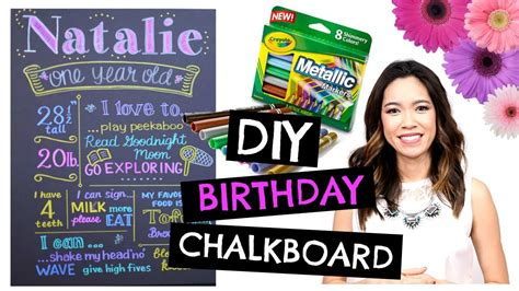 how to prepare for first birthday picturesmaking a giant diy 1st birthday chalkboard easy cheap youtube