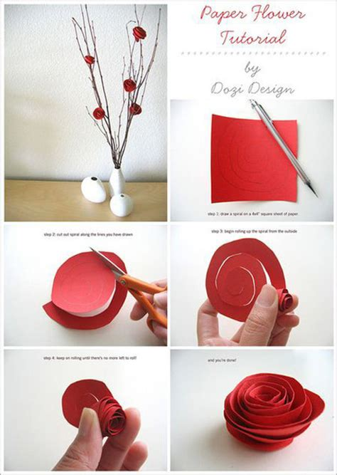 How To Make Paper Flower Decorations - diy valentine s day decorations julie