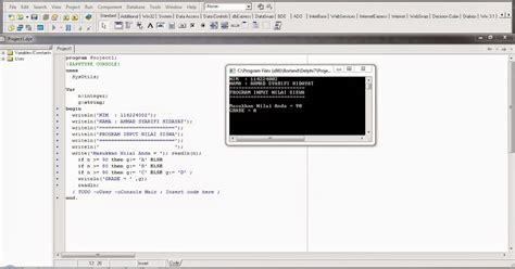 tutorial pemrograman borland delphi 7 mengenali bahasa pemrograman contoh penulisan script