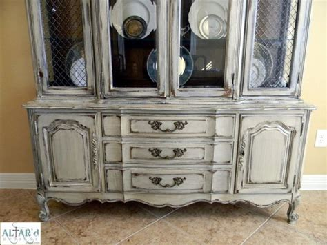 distressed china cabinet thomasville provincial china cabinet painted distressed houston home dining room