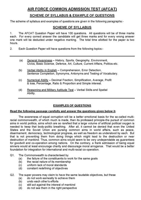 Mba Aptitude Test Sle Papers by Aptitude Test For Afcat 2018 2019 Studychacha