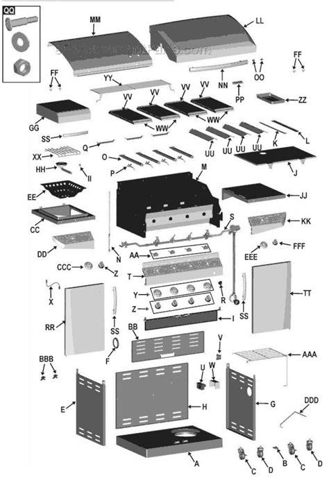 char broil parts diagram char broil 463271310 parts list and diagram