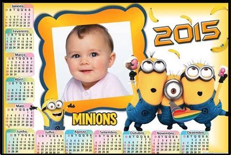 Fotomontaje De Calendario 2015 Minions Con Foto Hacer | fotomontaje para personalizar invitaci 243 nes para bautizo