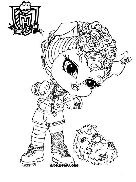 Kolorowanki Dla Dzieci Monster High High Color Page 2