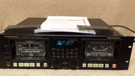 marantz cassette marantz pmd520 cassette deck doovi