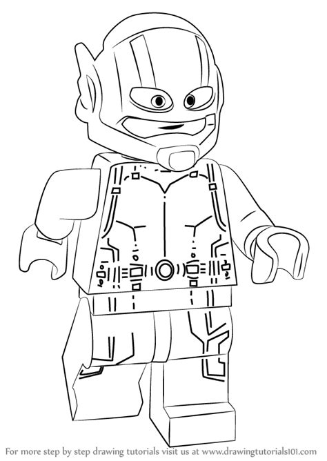 lego ant man coloring pages learn how to draw lego ant man lego step by step