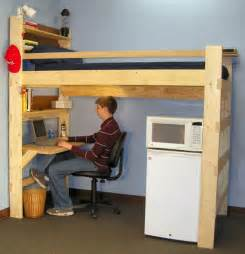 Loft Your Bed College Free College Loft Bed Plans Woodworking Projects