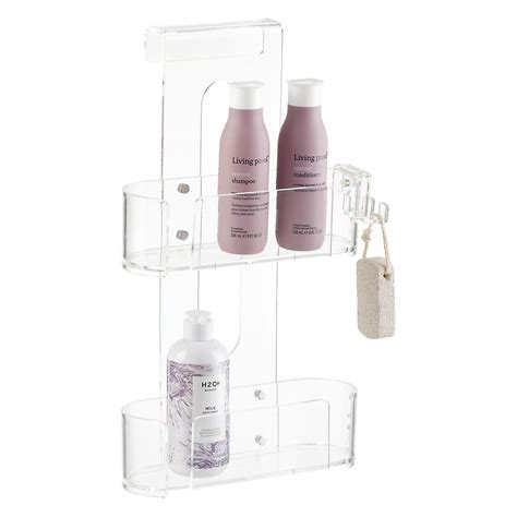Tier Acrylic 2 tier acrylic shower caddy the container store