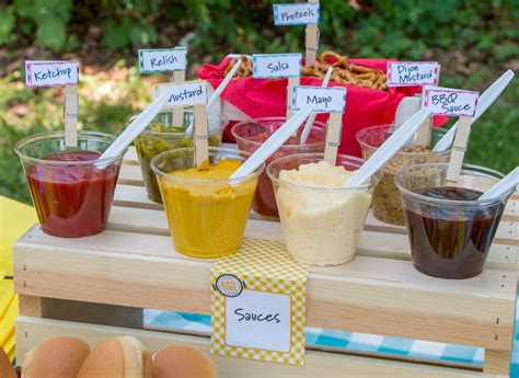 hot dog bar toppings cookout party series hot dog toppings bar blog martin s potato rolls