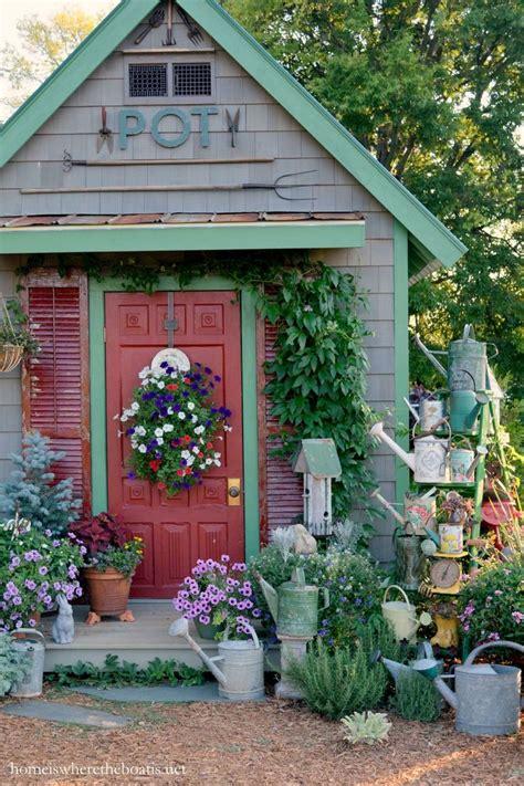watering  love shed decor rustic gardens garden shop