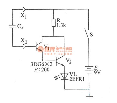capacitor testing circuit diagram the capacitor higher than 100pf selecting circuit measuring and test circuit circuit