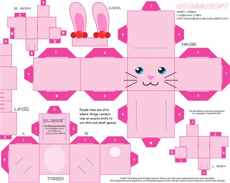 Papercraft Bunny - bunny cubee 183 how to fold an origami rabbit