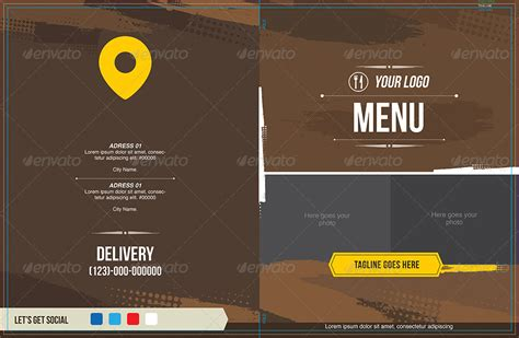 modern menu templates modern and distressed food menu template by insectodesign