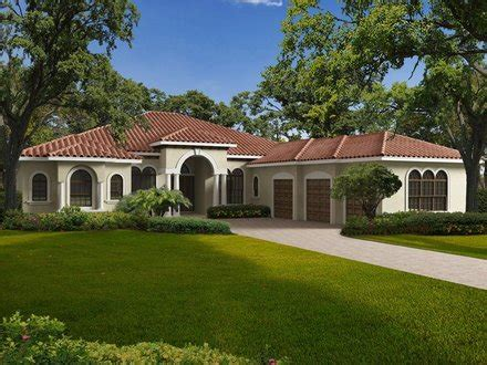 mediterranean house plans one story double bedroom 4 bedroom single story house plans one story mediterranean house plans