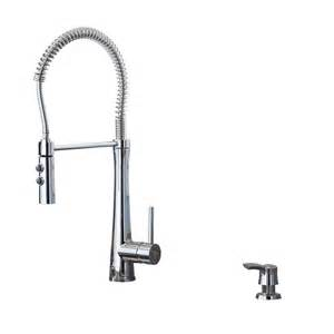 giagni fresco stainless steel 1 handle pull kitchen faucet shop giagni fresco polished chrome 1 handle deck mount pre