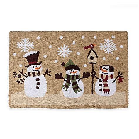 snowman rug heartland snowmen 1 foot 6 inch x 2 foot 5 inch kitchen rug in bed bath beyond