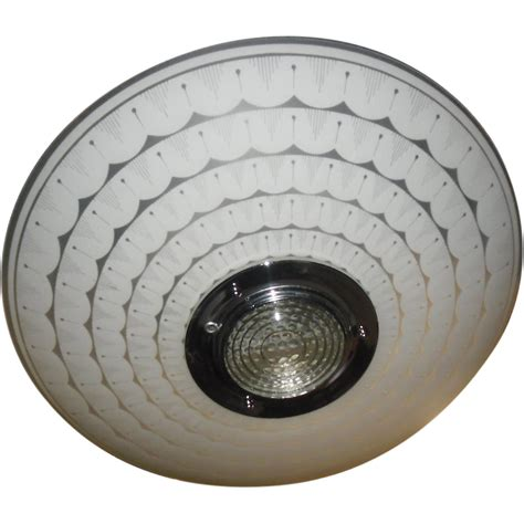 large mid century modern flush mount ceiling light from