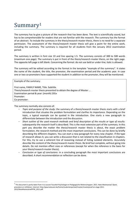 19+ Summary Examples - PDF | Examples