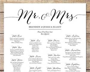 simple wedding seating chart wedding