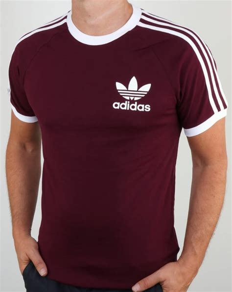 Kaos Polos Stripe Medium Maroon adidas originals clfn t shirt maroon3 stripes originals