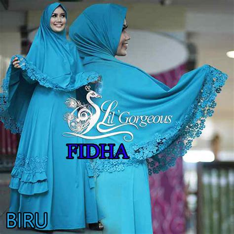 Clara Syari 2 fidha biru baju muslim gamis modern