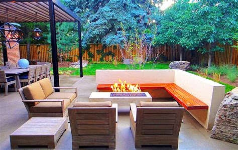 Dining Room Corner Bench by Sleek Modern Outdoor Living Space In Park Hill Mile High
